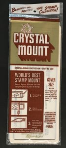Unopened Package of Crystal Mounts for Covers 3 7/8 X 7 (#Y746B)
