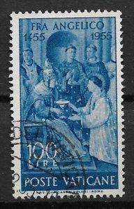 1955 Vatican 196 Pope Sixtus II and St. Lawrence 100 Lira used