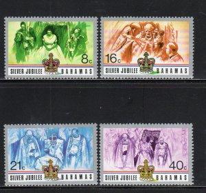 Bahamas MNH 402-5 QE II Silver Jubilee 1977