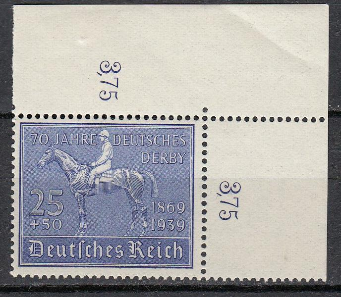 Germany - 1939 Racehorse Sc# B144 - MNH (270)