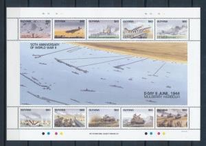 [81194] Guyana 1994 Second World war D-day Full sheet MNH