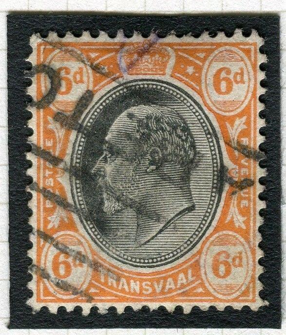 TRANSVAAL Interprovincial Period Ed VII CAPE TOWN Parcel Postmark on 6d.