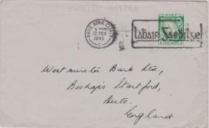 Ireland 1/2d Sword of Light 1945 Baile Atha Cliath Printed matter to Bishop's...