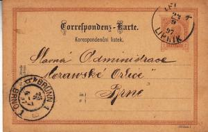Austria-Hungary - Postal Card Used at Lipnik Moravia 1897