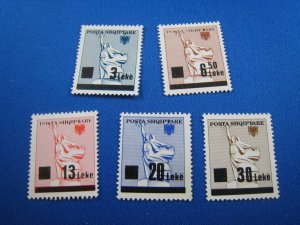 ALBANIA 1993 - SCOTT #  2435-2439   MNH