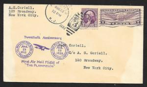 UNITED STATES Event Cover 20th Anniversary First Air Mail 1932 Plainfield