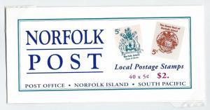 Norfolk Island booklet  MNH   sg sb8  sc 615a