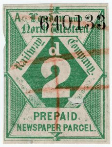 (I.B) London & North Western Railway : Newspaper Parcel 2d (large format)