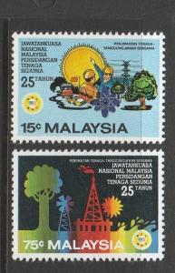 Malaysia 1981 World Energy UM, 15c & 75c only UM SG228/9