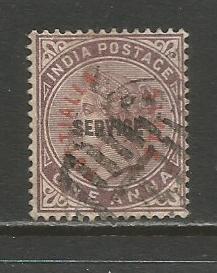 India-Patiala  #O2  Used  (1884)