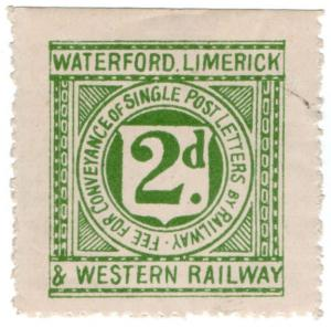 (I.B) Waterford Limerick & Western Railway : Letter Stamp 2d