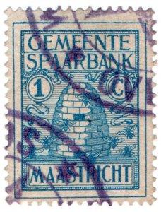 (I.B) Netherlands Revenue : Maastricht Savings Stamp 1c (Beehive)