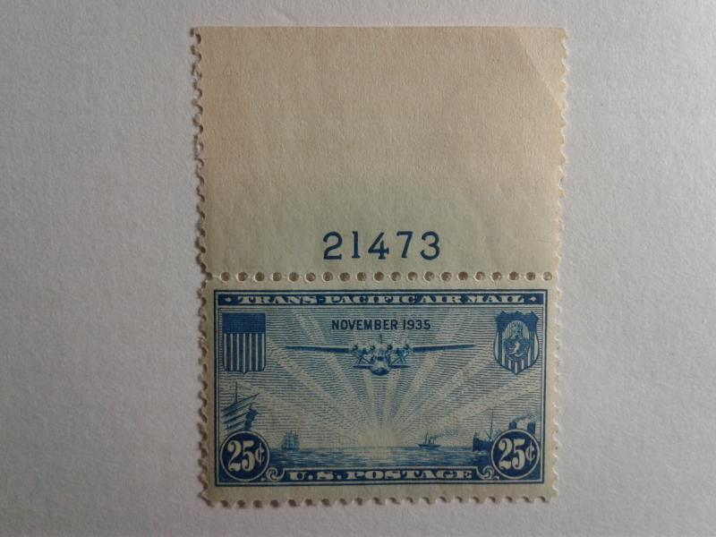 SCOTT # C20 GEM WITH PLATE # AIR MAIL MINT NEVER HINGED GREAT CENTERING !!