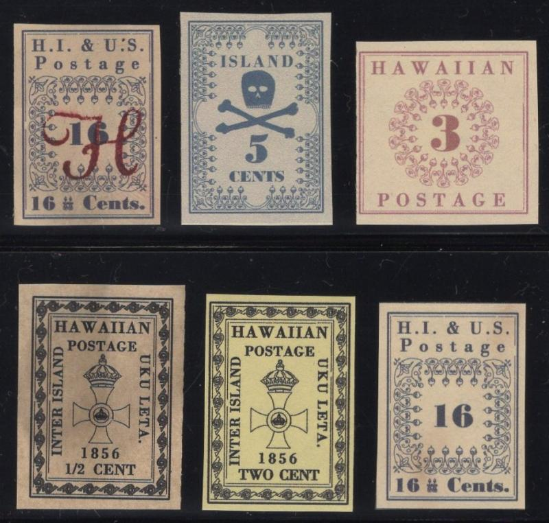 Small Collection of Hawaii Fakes/Forgeries - Group of 6 - Multicolored