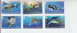 2017 BIOT - British Indian Ocean Territory Mega Fauna (6) (Scott 474-79) MNH