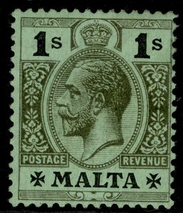 MALTA GV SG81d, 1s black/green, M MINT. Cat £42.