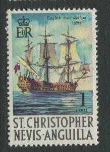 St. KITTS-NEVIS-Scott 207 -Definitives-1970- MNH - Single 1c Stamp