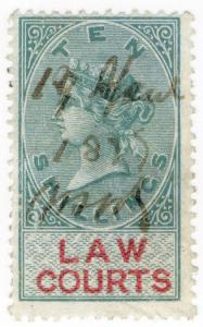 (I.B) QV Revenue : Law Courts (Scotland) 10/- (1873)