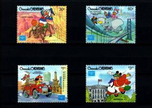 GRENADA GR - 1986 - DISNEY - MICKEY - DUMBO - AMERIPEX '86 - 4 X MINT - MNH SET!