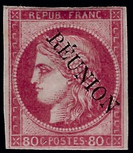 French Reunion Sc #12 Unused F-VF hr SCV80...French Colonies are Hot!