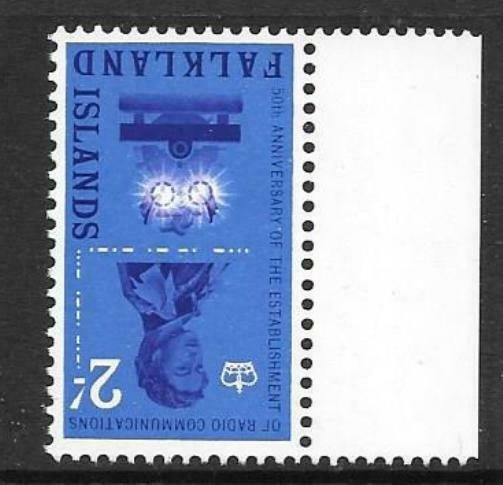 FALKLAND ISLANDS SG210w 1962 2/- WMK INVERTED MNH