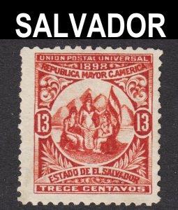 El Salvador Scott 183 wtmk 117 INVERTED (UPSIDE DOWN) WTMK ERROR 1st issue..