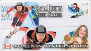 CA18-006, 2018, Women in Winter Sports, Clara Hughes, Day of Issue, FDC,