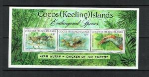 Cocos (Keeling) Islands: 1992, Endangered Birds, Buff Banded Rail, MNH M/S