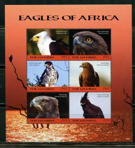 GAMBIA 2019 EAGLES OF AFRICA  SHEET OF SIX  MINT NEVER HINGED
