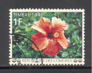 Comoro Islands Sc # J6 used (DT)