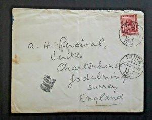 1918 Tanta Egypt To Goldaming Surrey England Charterhouse Cover