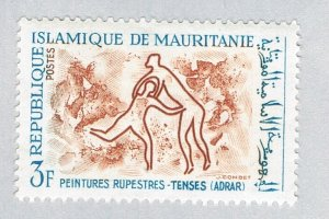 Mauritania Cave drawings brown 3f (AP131320)