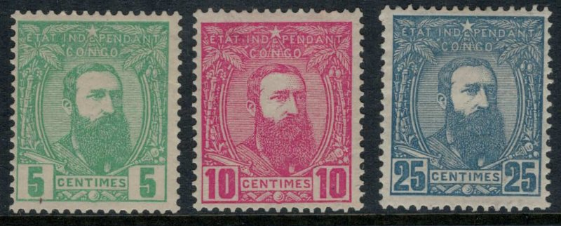 Belgian Congo #6-8*   CV $4.50