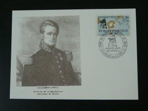 polar explorer Dumont d'Urville sailor navy maximum card 1989