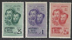 Italian Socialist Republic #32-34 Mint Hinged Set of 3