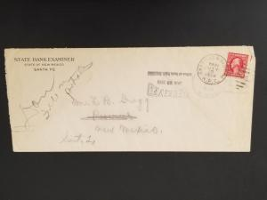 1924 Santa Fe New Mexico State Bank Examiner  Illustrated Advertising Cover