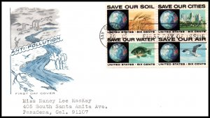 US 1413a Anti-Pollution House of Farnam Typed FDC