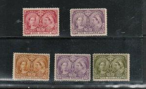 Canada #61 - #65 Mint Fine - Very Fine Full Original Gum Hinged