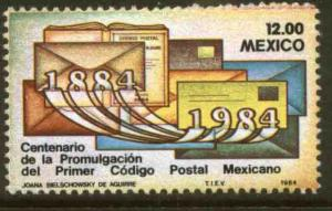 MEXICO 1344, Centenary of the First Postal Code. MINT, NH. VF.
