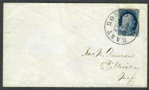 $US Sc#21 on cover Pos65L4 Feb. 4, 1858 East Boston, Crowe Cert., Ex. Siegel