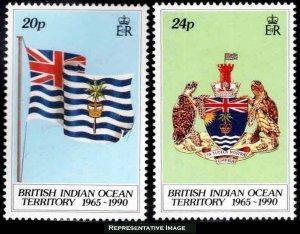 British Indian Ocean Territory Scott 108-109 Mint never hinged.