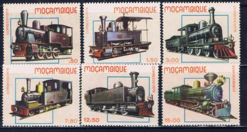 Mozambique 656-61 NH 1979 Trains