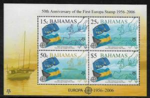Bahamas #1153a MNH S/Sheet - Europa 50th Anniversary