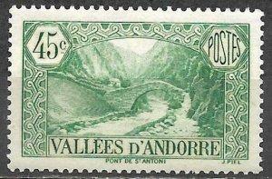 Andorra 1939 Stamp Mint 45c Bridge Of St. Anthony