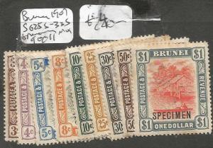 Brunei 1901 SG 255-335 Specimen 9 Out of 11 MOG (1clm)