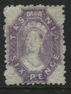 Tasmania 1864 6d violet unused no gum