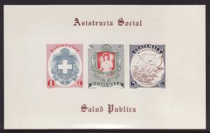 Guatemala #337a s/sheet imperf. F-VF Mint NH ** National Hospitals Fund