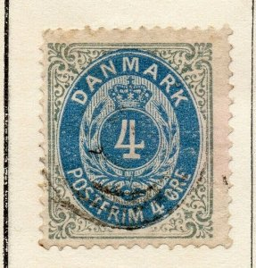 Denmark 1875 Early Issue Fine Used 4ore. NW-113848