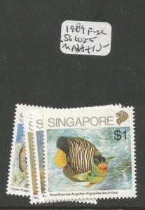 Singapore 1989 Fish SG 602-5 MNH (2cwu)