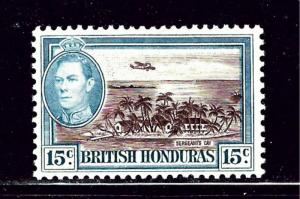 British Honduras 121 MH 1938 Sergeants Cay